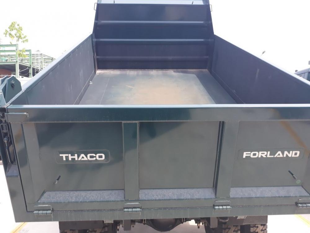 Bán xe ben Thaco FORLAND 7,5 tấn 2 cầu, thùng 6,3 khối đời 2018, màu xanh lam