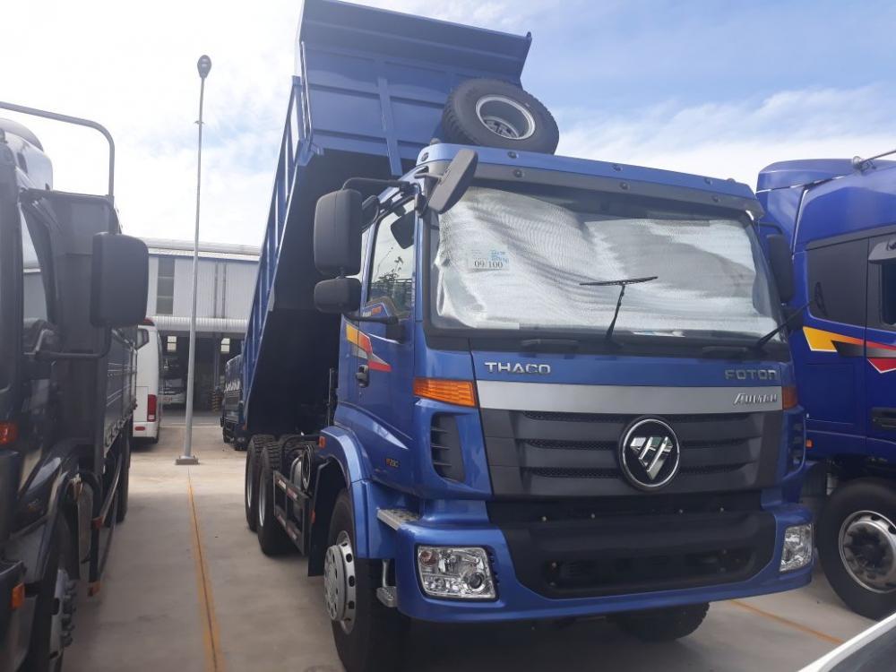 Bán xe ben Thaco 2 cầu tải 13 tấn thùng ben 10 khối siêu khỏe trả góp