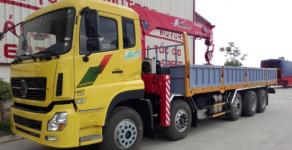 Xe tải Dongfeng 5 chân gắn cẩu 10-12 tấn, hỗ trợ mua trả góp ngân hàng 90% giá 800 triệu tại Tp.HCM