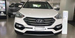Siêu hot! Hyundai Santa Fe màu trắng máy dầu có sẵn, giao ngay giá 1 tỷ 20 tr tại Tp.HCM