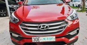 Bán Hyundai Santa Fe 2.2 CRDi năm 2017, màu đỏ giá 1 tỷ 160 tr tại Hà Nội