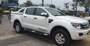 Bán Ford Ranger XLT sx 2014, số tự động 2 cầu máy dầu, màu trắng giá 497 triệu tại Tp.HCM
