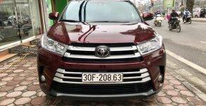 Bán Toyota Highlander sản xuất 2018, màu đỏ, xe nhập Mỹ biển HN giá 2 tỷ 650 tr tại Hà Nội