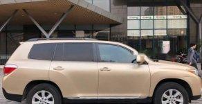 Chính chủ bán Toyota Highlander sản xuất 2011, màu vàng, nhập khẩu giá 1 tỷ 150 tr tại Hà Nội
