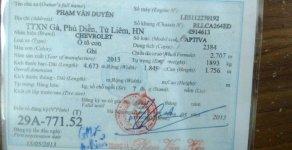 Cần bán Captiva, chính chủ, đời 2013, màu bạc giá 470 triệu tại Hà Nội