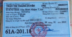 Cần bán Toyota Camry sản xuất năm 1995, màu xám số sàn giá 73 triệu tại Tp.HCM