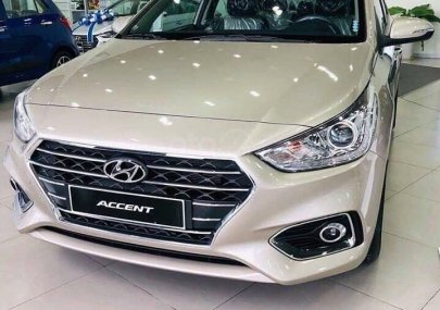 Cần bán Hyundai Accent 1.4L AT sản xuất 2019, màu vàng cát